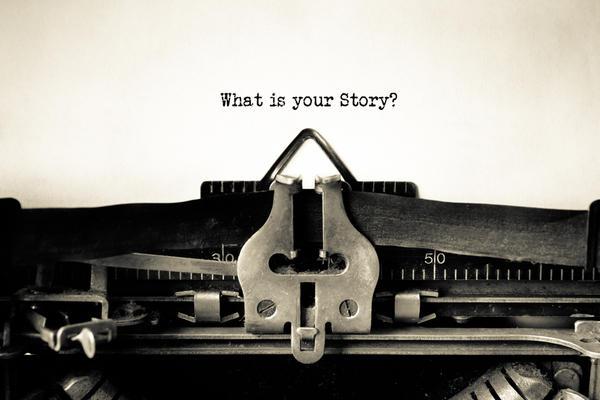 storytelling on typewriter