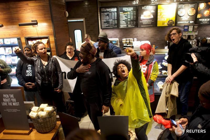 Starbucks protest in Philadelphia