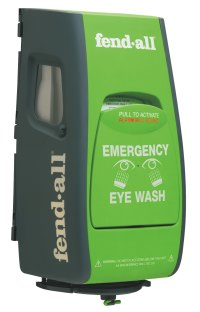 Eye wash with alarm