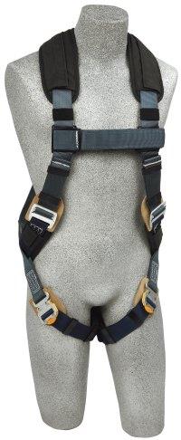 Harness strap with ergonomic pad