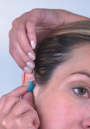 Push-in ear plugs