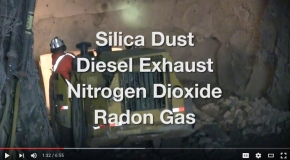 Respirable hazards in mining video