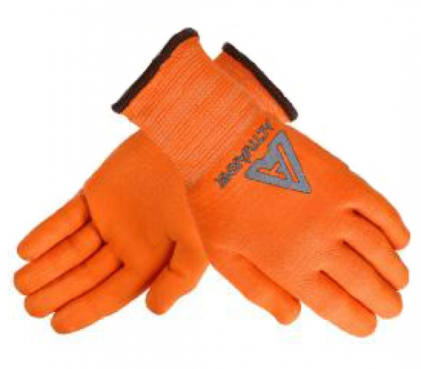 Medium duty, high-visibility glove