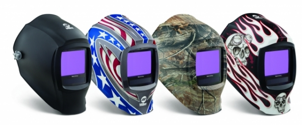 Large view welding helmet