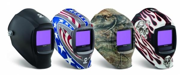Large view welding helmet