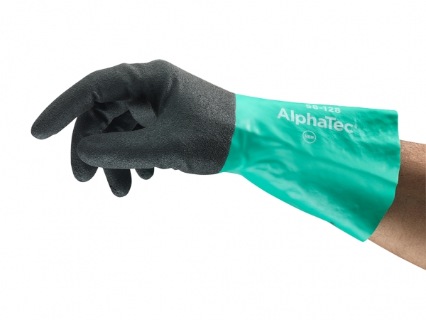 Ergonomic certified chemical glove