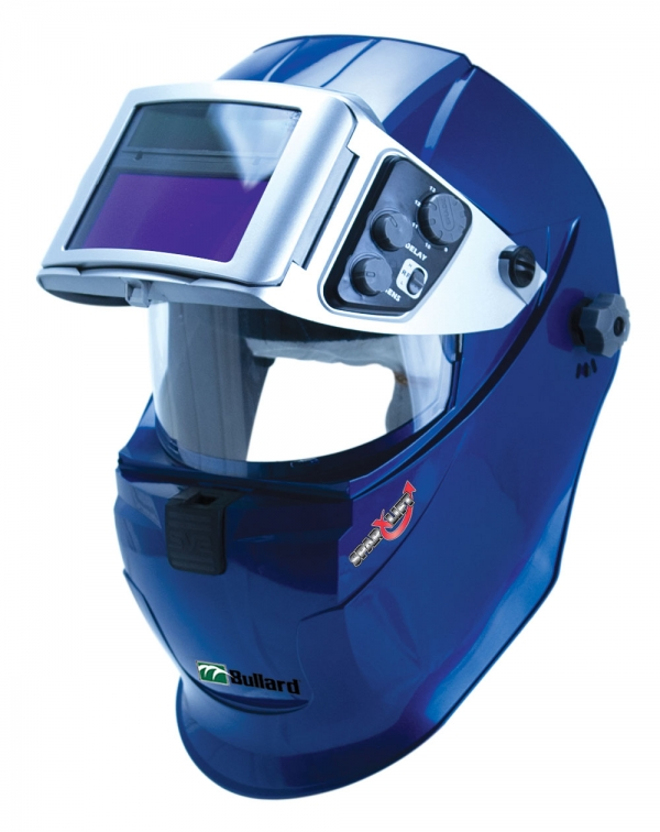 Welding helmet with PAPR