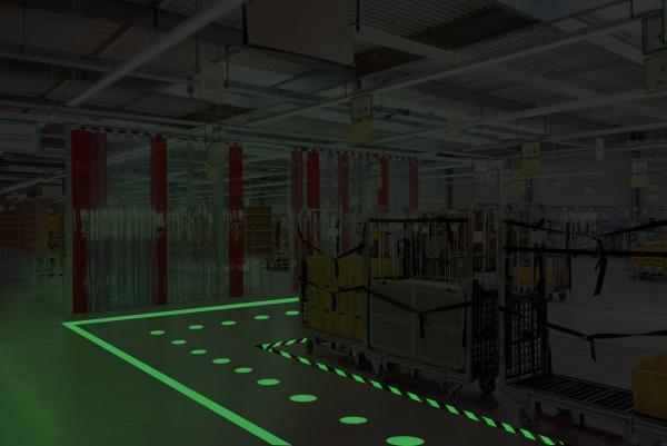 Glow-in-the-dark floor decals