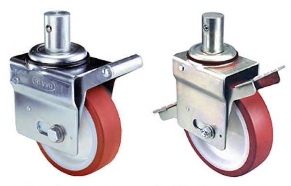 Scaffold caster wheels