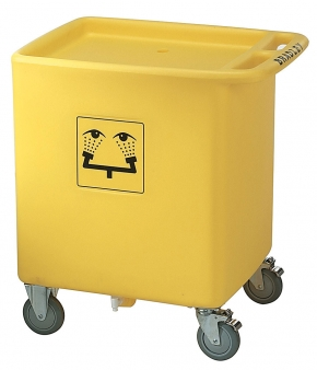 On-site waste cart
