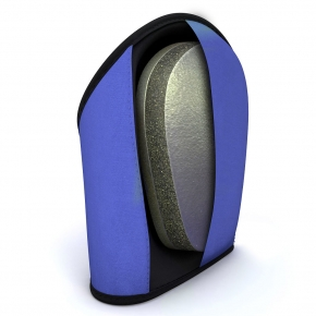 Memory foam knee pad