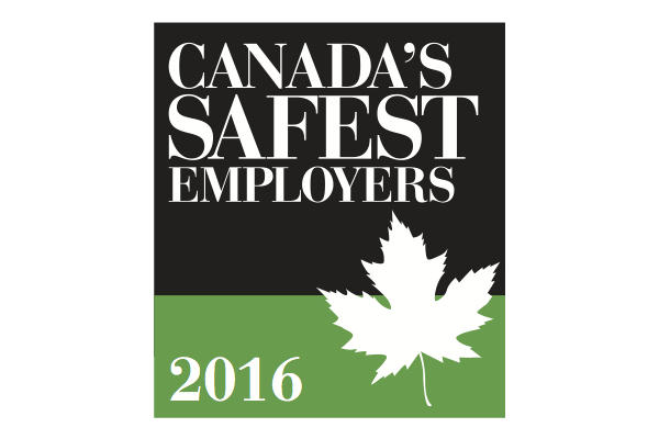 Announcing the 2016 Canada's Safest Employers