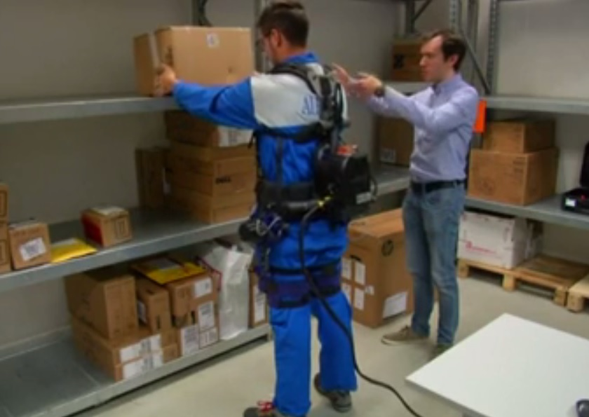 Exoskeleton takes strain off repetitive lifting