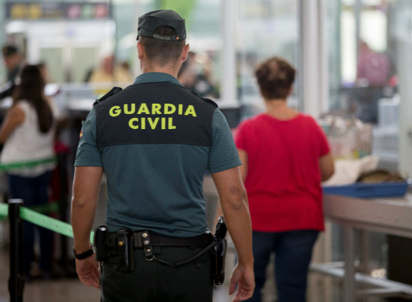 Civil Guard at Barcelona airport