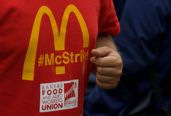 McDonald's UK workers strike
