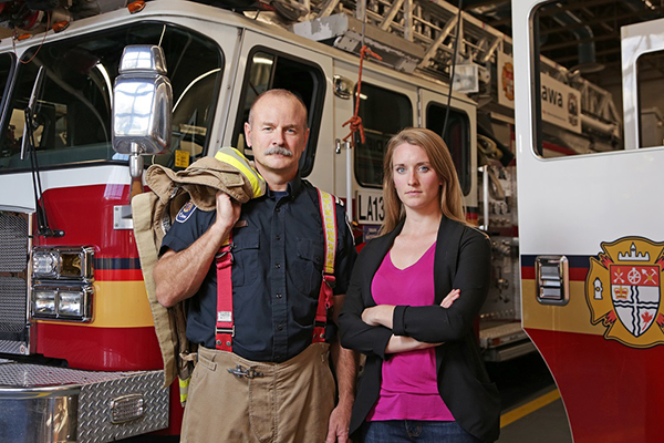 Firefighters absorb harmful chemicals through skin, study finds