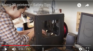 Safety Tip – Using 3D printers