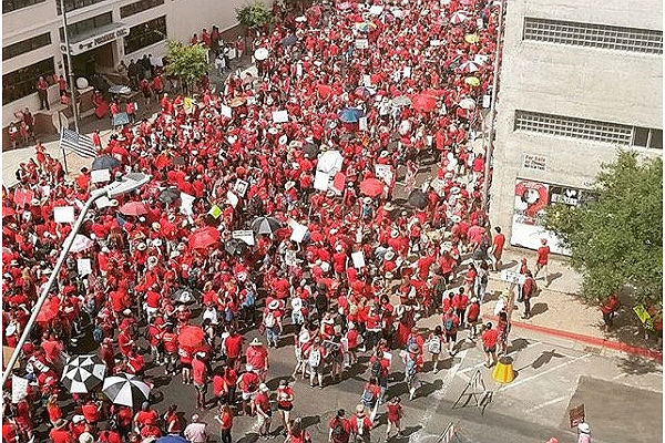 Arizona teachers go on strike