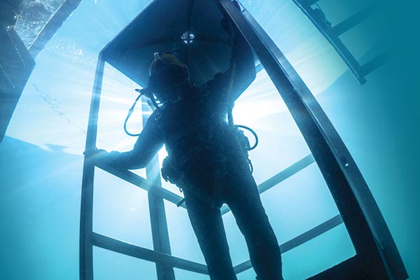 Commercial diving leaves zero margin for error