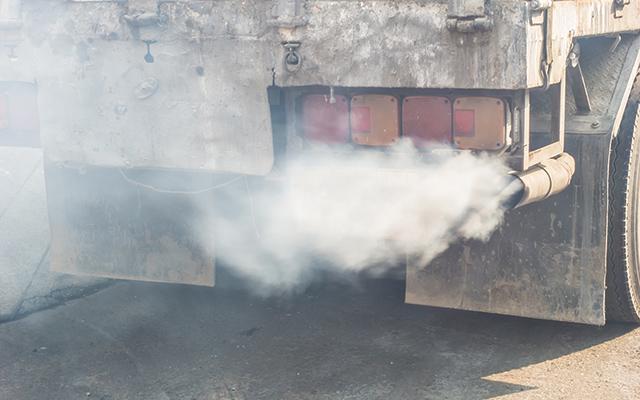 Truck fumes