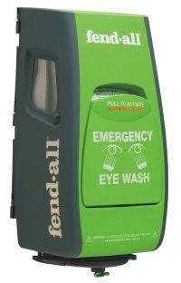 Eye wash with alarm