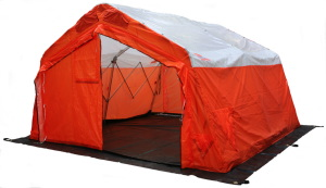 Emergency shelter with AC