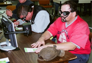 Eye safety workshop gives workers blind moment