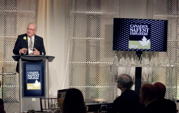 Highlights from the 2014 Canada's Safest Employers gala