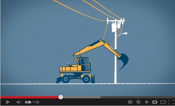 Overhead powerline safety reminder