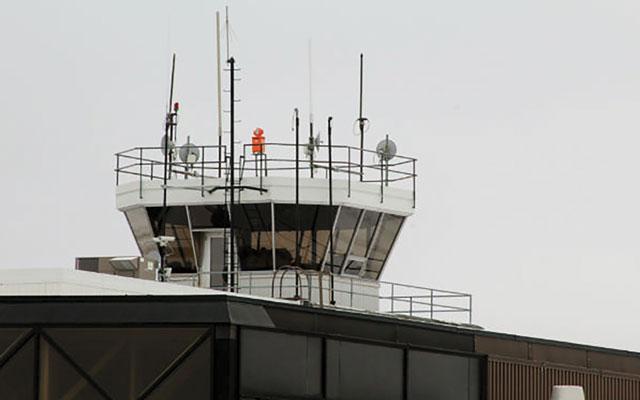 Top of Gander airport building