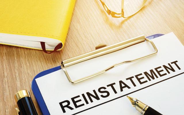 Declining reinstatement offer reduces unjust dismissal damages