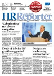 August 11, 2014: Canadian HR Reporter/Human Resources News