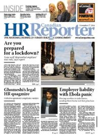 Nov. 17, 2014: Canadian HR Reporter/Human Resources News
