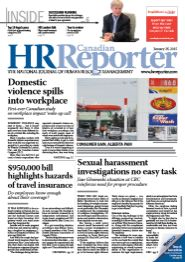 Jan. 26, 2015: Canadian HR Reporter/Human Resources News