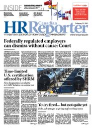 Feb, 23, 2015: Canadian HR Reporter/Human Resources News