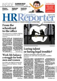 March 23, 2015: Canadian HR Reporter/Human Resources News