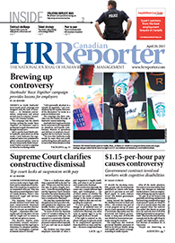 April 20, 2015: Canadian HR Reporter/Human Resources News