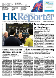 Aug. 10, 2015: Canadian HR Reporter/Human Resources News