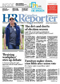 Sept. 21, 2015: Canadian HR Reporter/Human Resources News