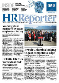 Nov. 2, 2015: Canadian HR Reporter/Human Resources News
