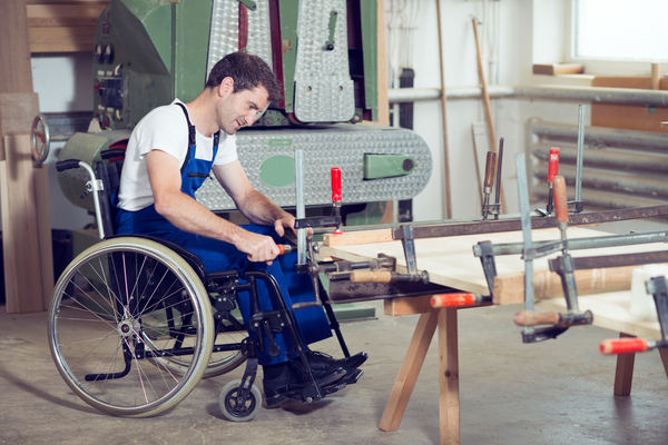 worker in wheelchair