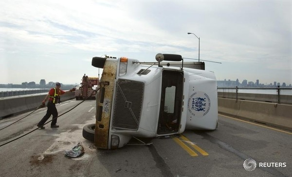 transport truck accident