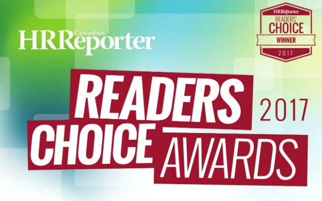Winners of Canadian HR Reporter's 2017 Readers' Choice Awards announced