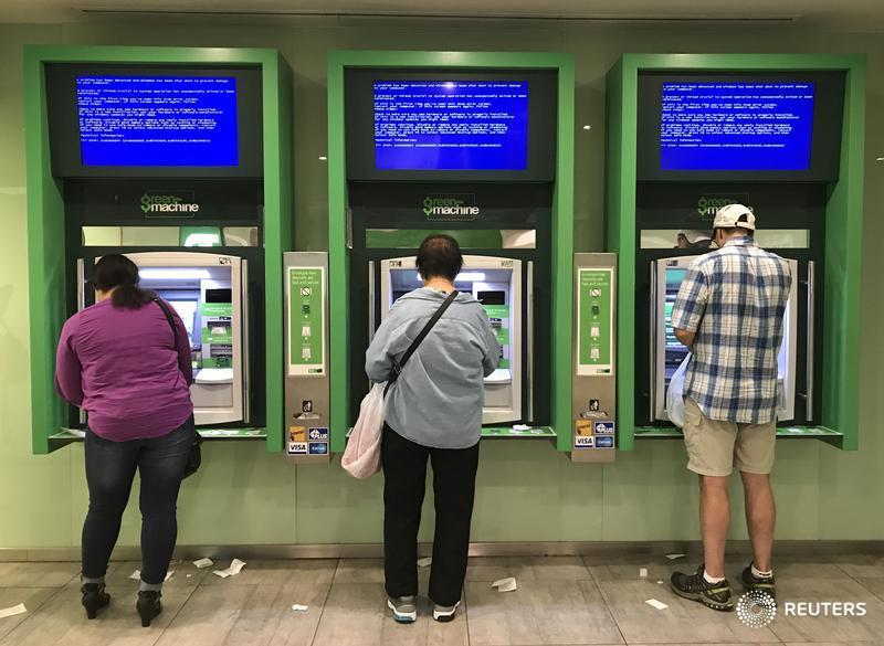 Man stuck in ATM