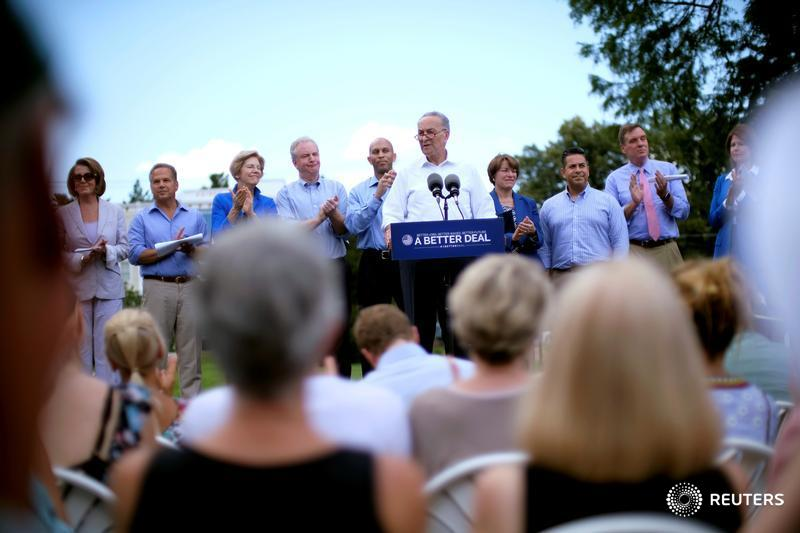 U.S. Democrats take aim at big companies in economic blueprint