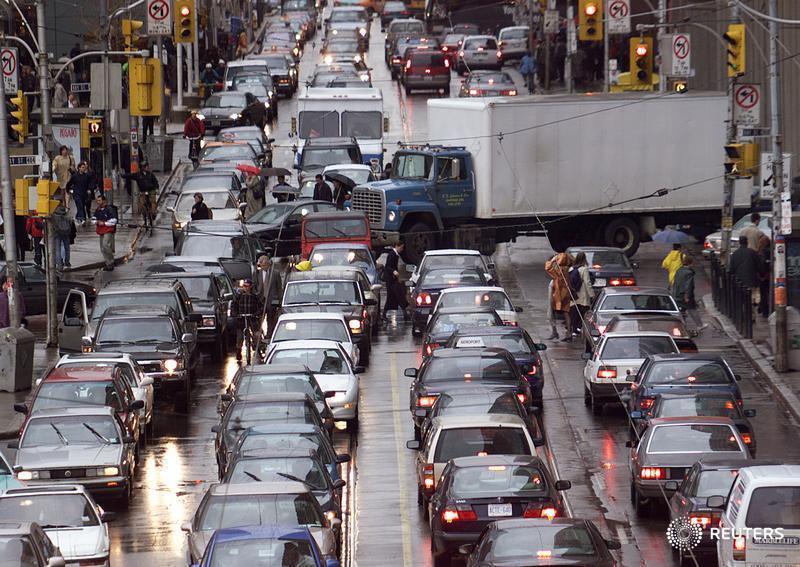 Traffic jam in Toronto
