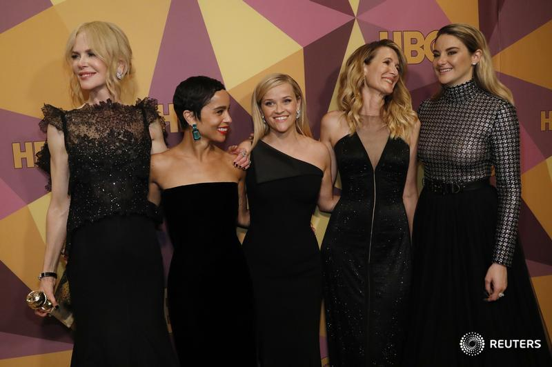 Stars black out Golden Globes red carpet in support of Time's Up movement