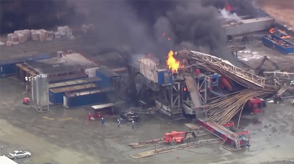 Five missing after Oklahoma oil and gas drilling site explosion