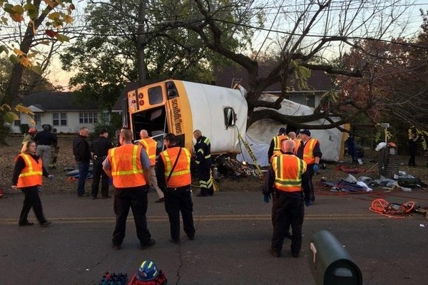 school bus crash