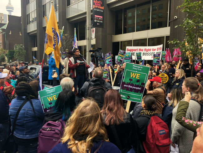 Ontario protests defend Bill 148, $15 minimum wage
